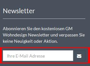 Gm-Wohndesign.de Deutschland Newsletter