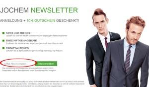 Herrenmode-Jochem.de Deutschland Newsletter