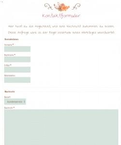 Lovely-Things.com Deutschland Kontaktformular