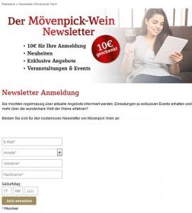 Moevenpick-Wein.de Deutschland Newsletter
