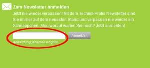 Technik-Profis.de Deutschland Newsletter