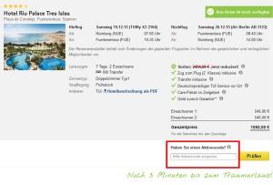 Tui.com Deutschland Gutschein