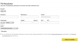 Tui.com Deutschland Newsletter